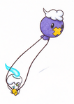 Kame's Ghost Collab: Drifloon and Litwick by Meta-Akira