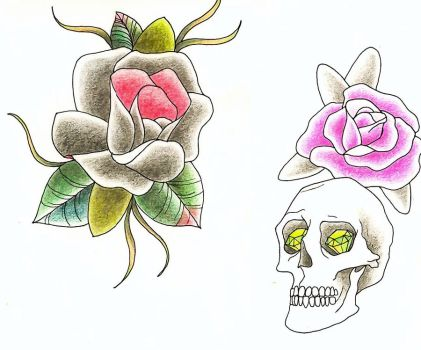 skull'n'flower by PITY-ME-LIKL