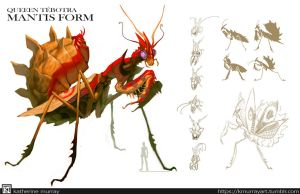 Queen Tebotra Mantis Form by Kuthinks
