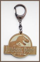 JURASSIC PARK - wood keyring by Piciuu