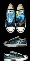 Nightmare Before Xmas Converse by SwissDutchess