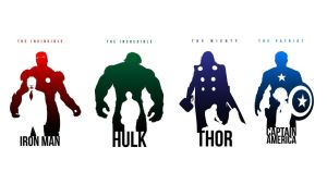 IronMan-Hulk-Thor-CaptainAmerica by SugarOnTopOfTheWorld