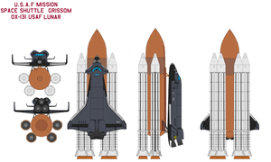 Space shuttle  Grissom OX-131 USAF mission Lunar by bagera3005