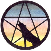 Pentacle Wolf - commission by whisperelmwood
