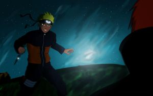 Naruto in Action by THENCHU99