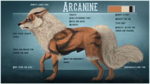 Arcanine ref sheet redo by KFCemployee