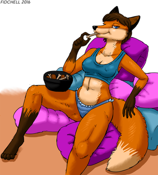 A Fox and Her Chicken by Fiidchell