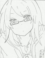 Girl with glasses by cjoyzv