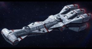 Star Wars CR95 Corellian Corvette by AdamKop