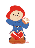 Paddington's marmalade sandwich by Machu