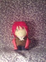 Grell Mini Plushie by snowtigra