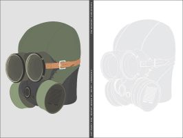 Gas-mask in vector by dich