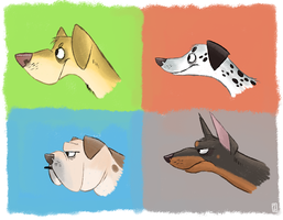 Canines by Zerda-Fox