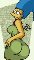 Sexy Marge Simpson by omar-sin