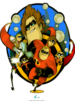 THE INCREDIBLES by angelgaby