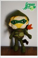 Green Arrow - in miniature plushie form by lulufae