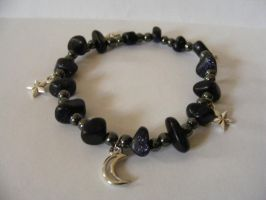 blue goldstone space bracelet by MiracleElixer