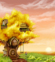 Treehouse by Mantilein