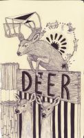 D is for Deer by emimf