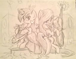 Lyra and Tavi's Celtic Metal Band by Zookz25