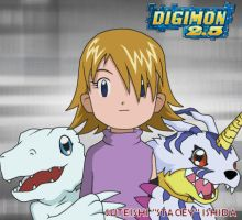 Best Partner: Stacey and Gabumon and SnowAgumon by CherrygirlUK19
