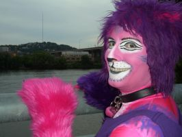 Cheshire Cat by the river 1 - Anthrocon 2012 by toberkitty