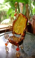 Amber and crystal faery chair by pureshaktifire