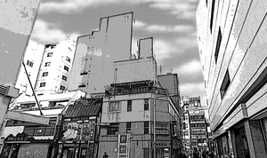 Manga Building 2 background by ChazzVC