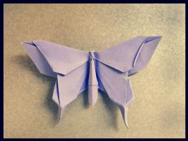 origami butterfly by alejandro-delafuente