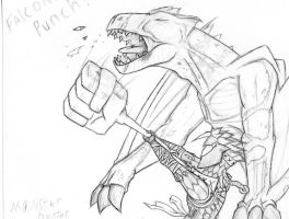 monster hunter FALCON PUNCH by TheEntireFireNation