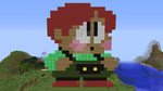 Bub (Bubby) (Rainbow Islands) redone in Minecraft by superslinger2007