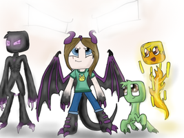 Rise of The Enderspawn cover page finnished by SnapDragonStudios