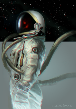 Space Zambie by candid-silence