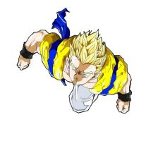 ssj Adult Gotenks by ruga-rell
