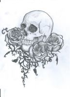 Skull tattoo design by ei3ga
