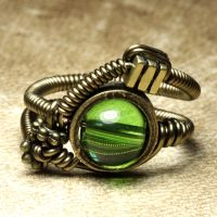 steampunk jewelry ring Q by CatherinetteRings