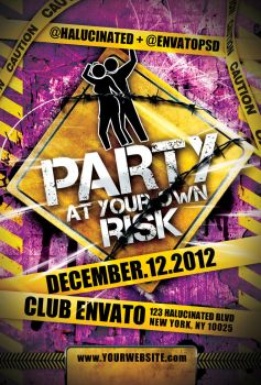 Party At Your Own Risk PSD by stevisimo