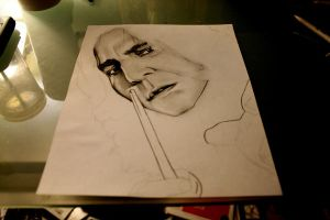 Harry Potter Project: Snape WIP by artbyjoewinkler