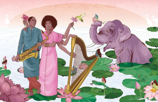 John and Alice Coltrane by cryssy