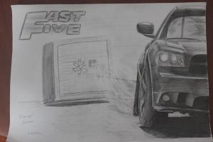 Fast Five Dodge Charger by daharid