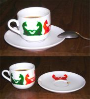 ::: cat's coffee cup two by camaseiz