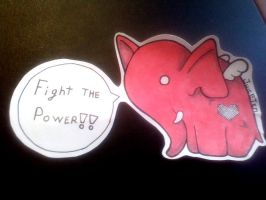 Elephant_Sticker by Juicetin