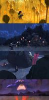 some color scripts for a personal project by Zedig