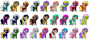Chibi MLP adoptables - CLOSED by pyrrula