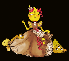 lemongrab + frilly dress by beetleshell
