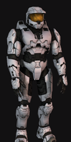 Halo 3 Chief Half Completed V2 by Keablr