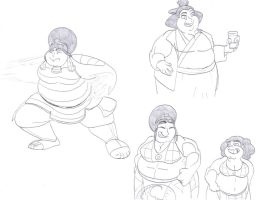 Adult Sumo Toph by CatsTuxedo