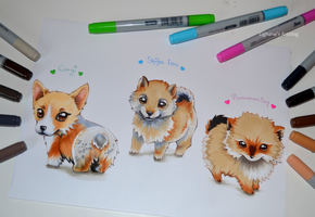 Cutie Dogs by Lighane