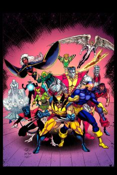 Classic X-men cover by maskmojo