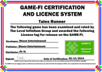 Tales Runner Game-Fi Licence Certificate by LevelInfinitum